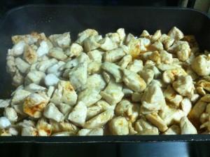 חזה עוף מבושל