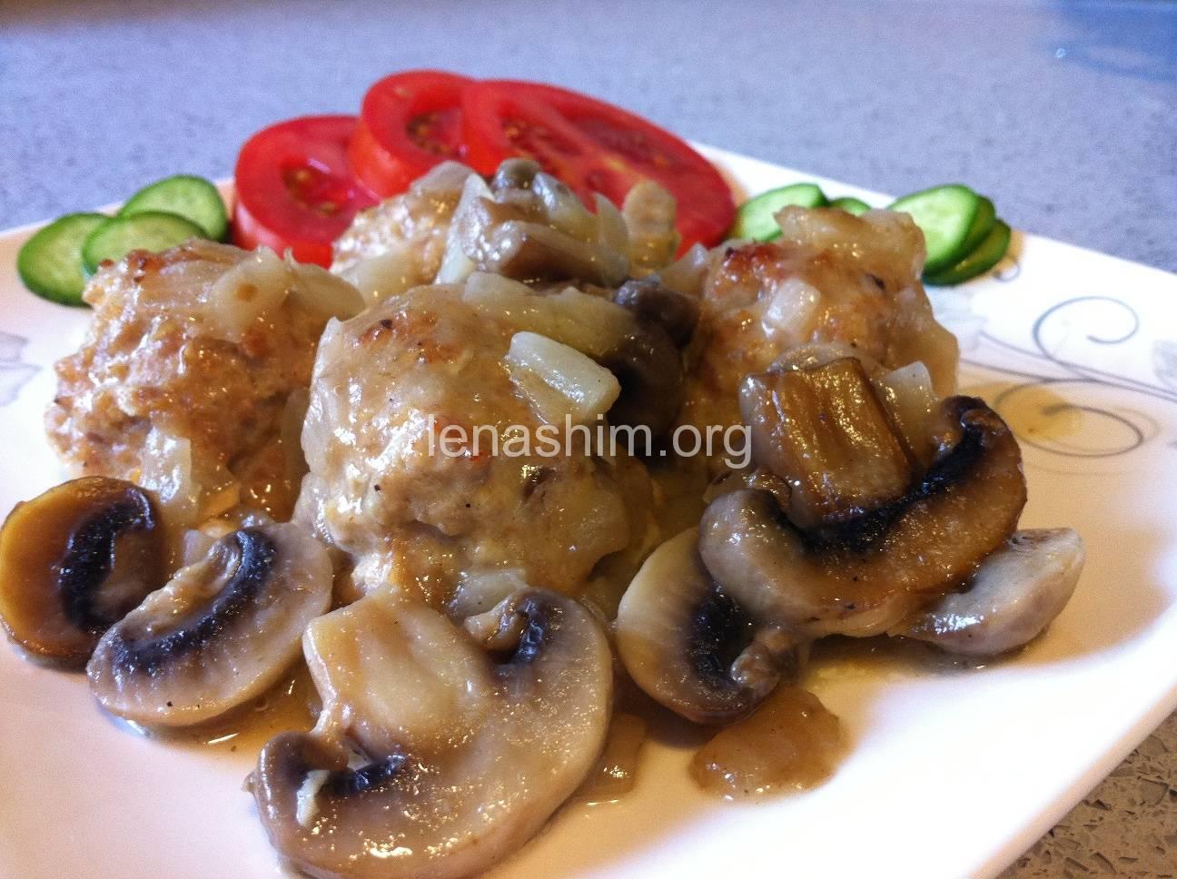 כדורי בשר ברוטב פטריות