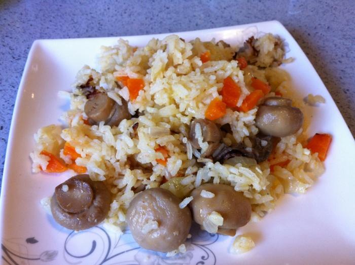 אורז ופטריות
