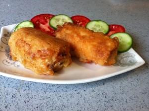 רולדות דג פילה עם בצל