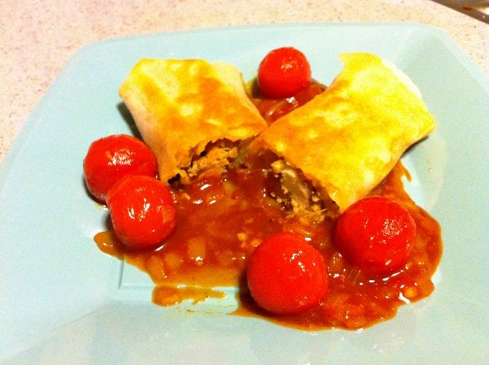 מאפה עוף ברוטב עגבניות