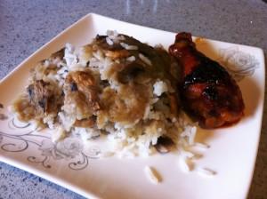 אורז אפוי עם פטריות