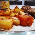 בטטה ותפוחי אדמה בתנור