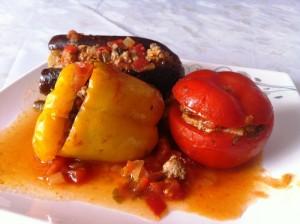 ירקות ממולאים בבשר