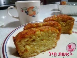 עוגת בחושה תפוחים חלבית