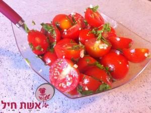 סלט עגבניות שרי