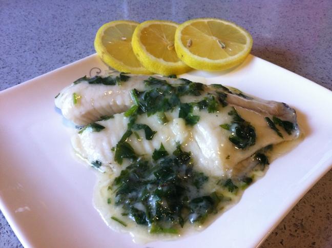 פילה דג ברוטב ירוק