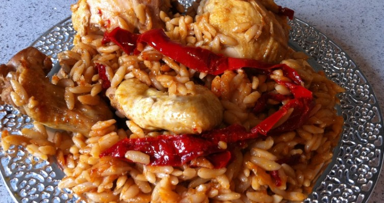 עוף עם פתיתים בתנור