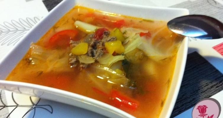 מרק בשר עשיר עם ירקות