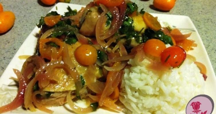 כרעי עוף עם תפוז סיני